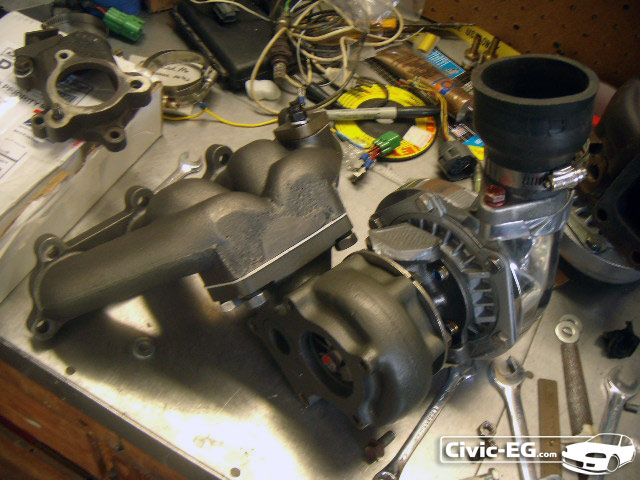 Civic EG View topic - DIY: Complete Turbo Install on D16z6