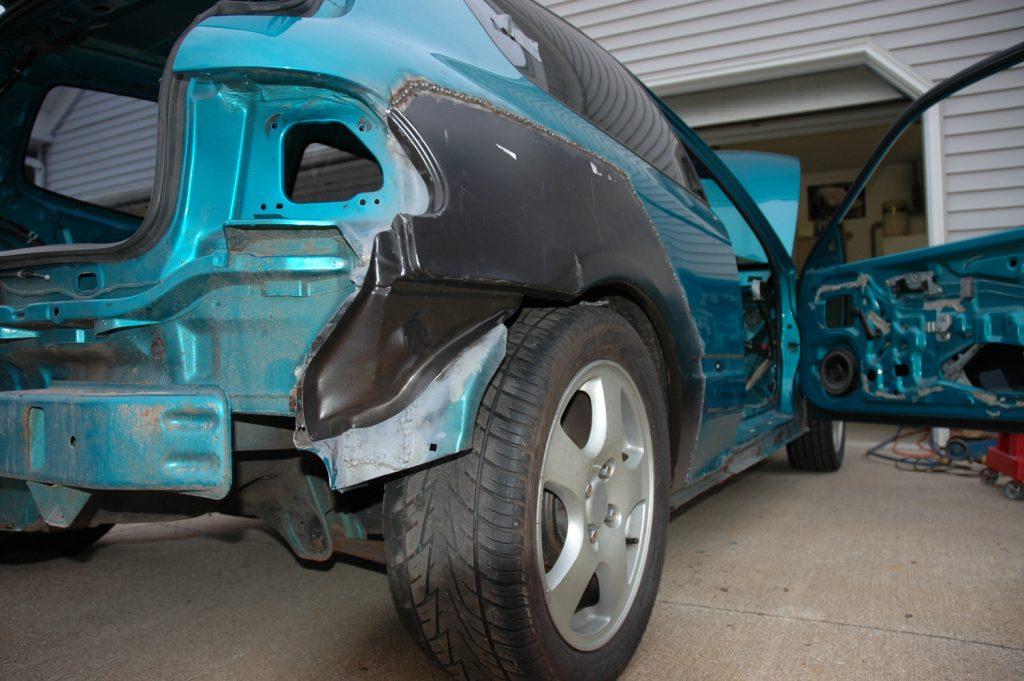 Wheel Arch Quarter Panel rear fender 92-95 Honda Civic 2Dr hatchback rust RIGHT