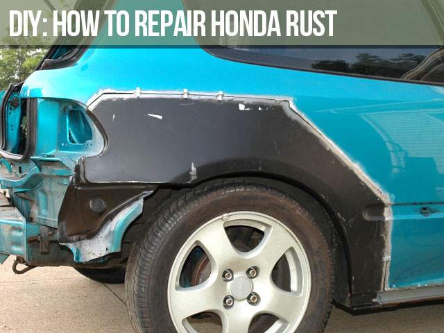 repair civic eg rust